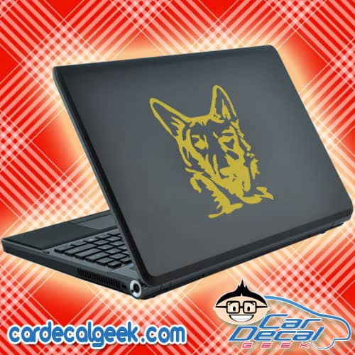 German Shepherd Head Laptop Decal Sticker