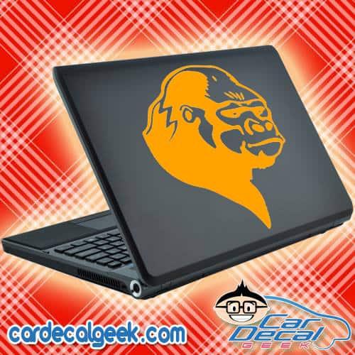 Gorilla Head Laptop Decal Sticker