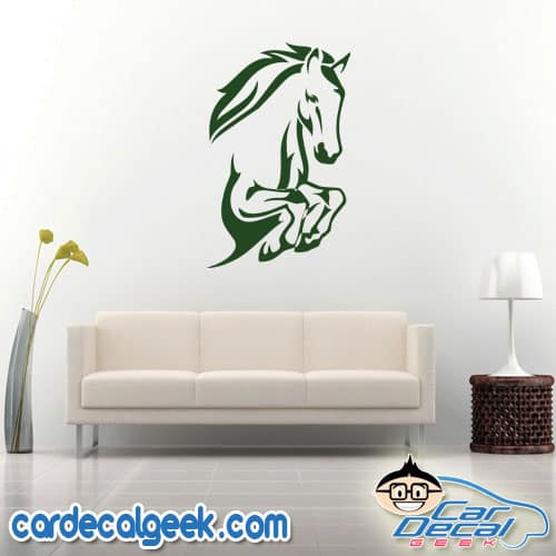 Leaping Horse Wall Decal Sticker