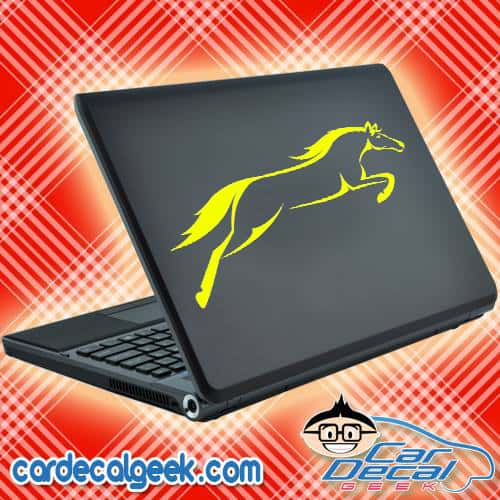 Amazing Jumping Horse Laptop Decal Sticker