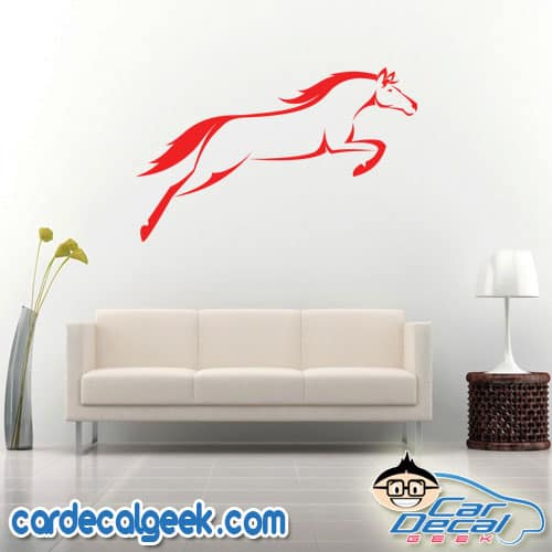 Amazing Jumping Horse Wall Decal Sticker