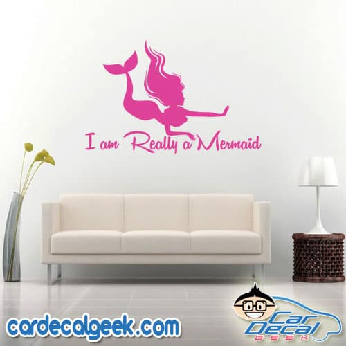 I Am Really a Mermaid Wall Decal Sticker