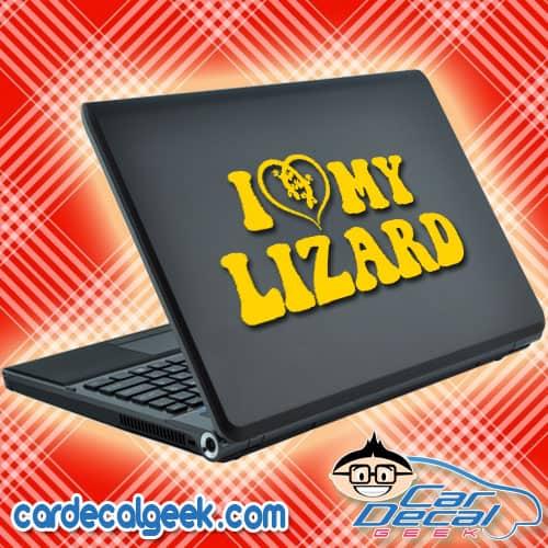 I Love My Lizard Laptop Decal Sticker