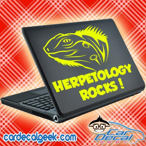 Iguana Herpetology Rocks Laptop Decal Sticker