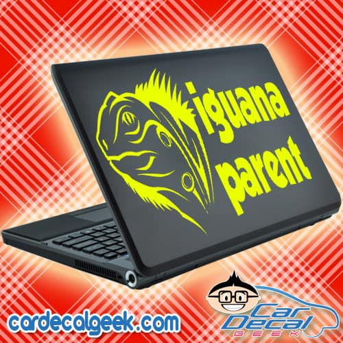 Iguana Parent Laptop Decal Sticker