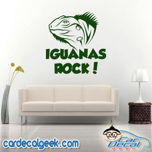 Iguana's Rock Wall Decal Sticker