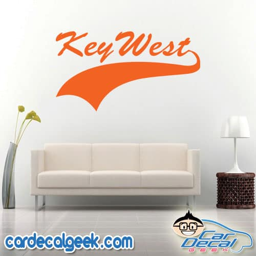 Key West Athletic Wall Decal Sticker