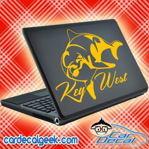 Key West Dolphin Laptop Decal Sticker