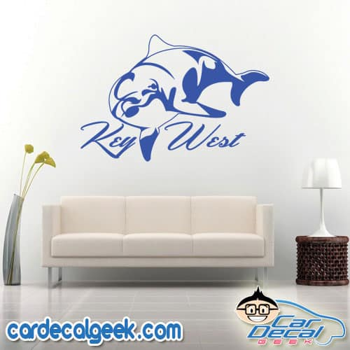 Key West Dolphin Wall Decal Sticker