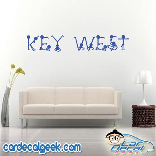 Key West Naked People Wall Decal Sticker
