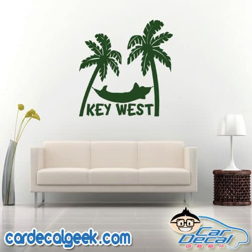 Key West Tropical Hammock Wall Decal Sticker