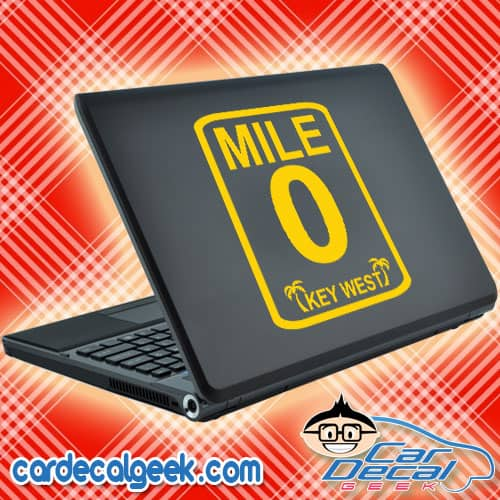 Key West Mile Marker 0 Laptop Decal Sticker