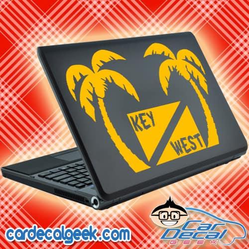 Key West Scuba Dive Flag Palm Trees Laptop Decal Sticker