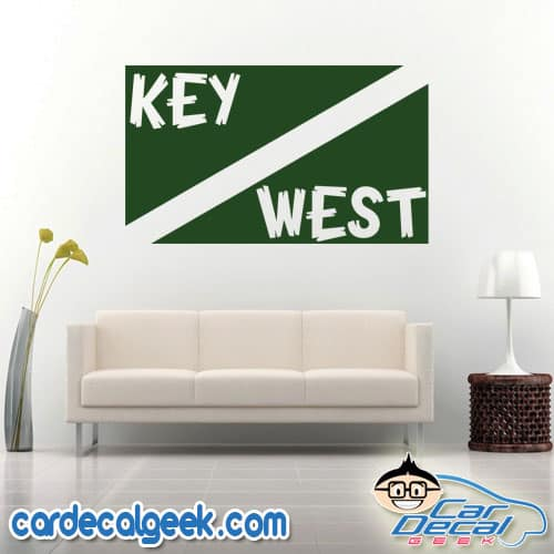 Key West Scuba Dive Flag Wall Decal Sticker