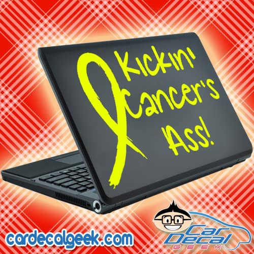 Kickin' Cancer's Ass! Laptop Decal Sticker