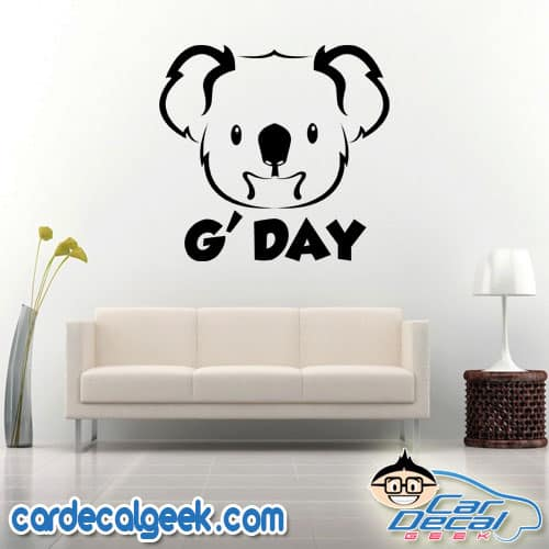 Koala G'Day Wall Decal Sticker
