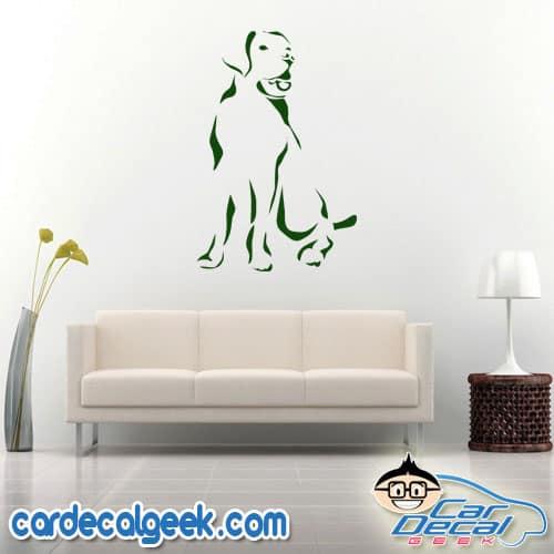 Loyal Labrador Wall Decal Sticker