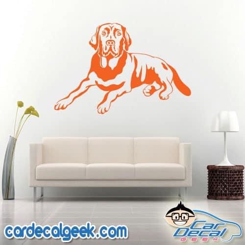Awesome Labrador Dog Wall Decal Sticker
