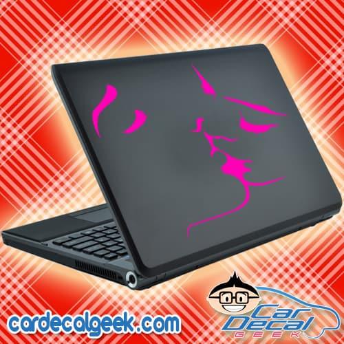 Hot Lesbian Kiss Laptop Decal Sticker