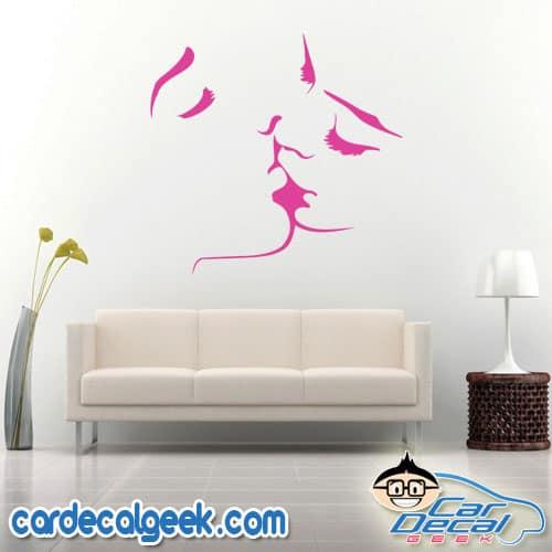 Hot Lesbian Kiss Wall Decal Sticker