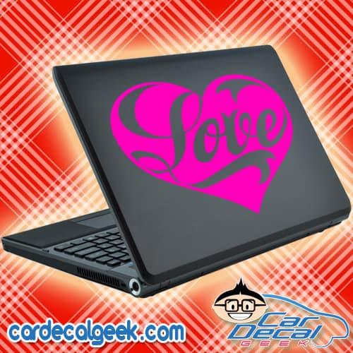 Love Heart Laptop Decal Sticker