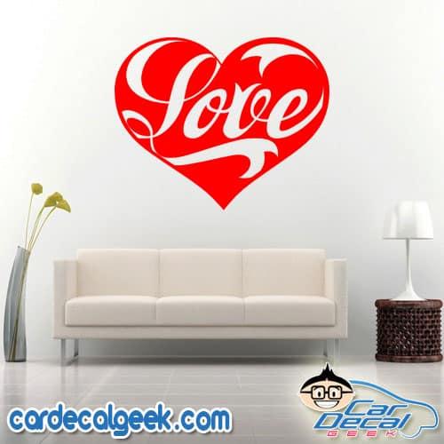 Love Heart Wall Decal Sticker