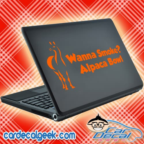 Wanna Smoke? Alpaca Bowl Laptop Decal Sticker