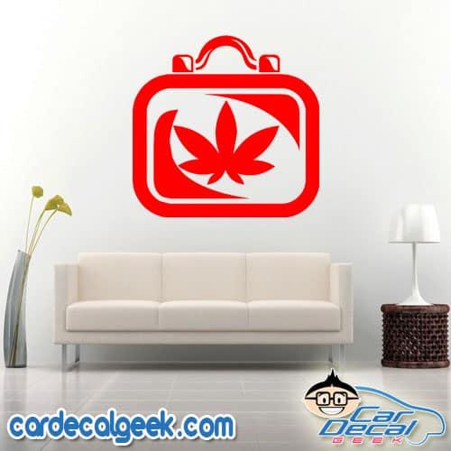 Medical Marijuana Case Wall Decal Sticker