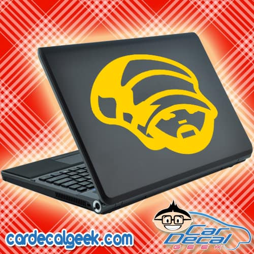 Rastafarian Guy Laptop Decal Sticker