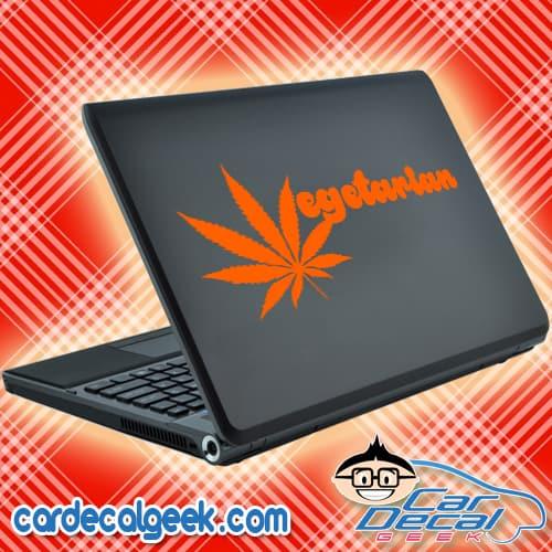 Marijuana Vegetarian Laptop Decal Sticker