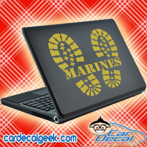 Marines Combat Boots Laptop Decal Sticker