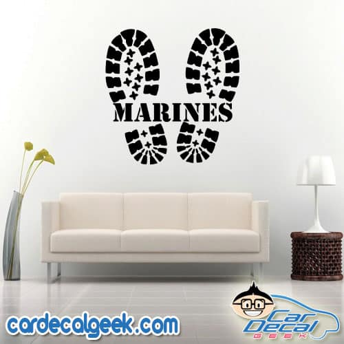 Marines Combat Boots Wall Decal Sticker