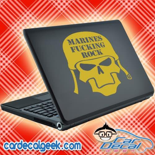 Marines Fucking Rock Laptop Decal Sticker