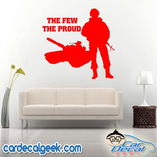 The Few The Proud Marine Wall Decal Sticker