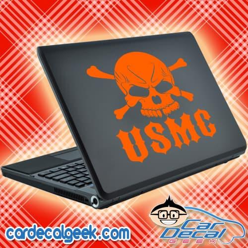 USMC Marines Skull Laptop Decal Sticker