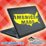 American Made United States Laptop Macbook Decal Sticker