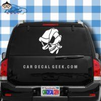 Alien Skull Car Window Decal Sticker
