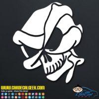 Alien Skull Decal Sticker