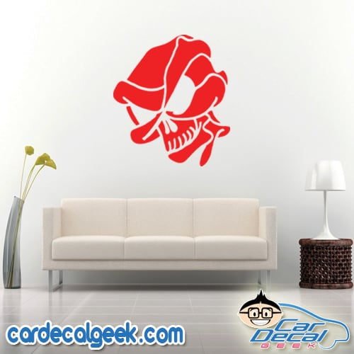 Alien Skull Wall Decal Sticker