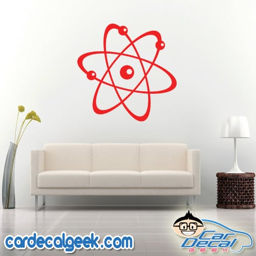 Atom Science Wall Decal Sticker