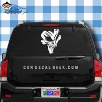 Awesome Creepy Skull Car Window Decal Sticker