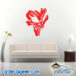 Awesome Creepy Skull Wall Decal Sticker