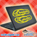 Beach Aholic Flip Flops Laptop MacBook Decal Sticker