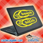 Beach Bitch Flip Flops Laptop MacBook Decal Sticker