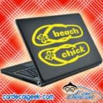 Beach Chick Flip Flops Laptop MacBook Decal Sticker