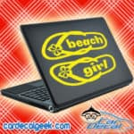 Beach Girl Flip Flops Laptop MacBook Decal Sticker