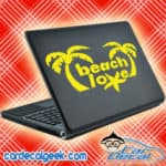 Beach Love Sea Star Palm Trees Laptop MacBook Decal Sticker