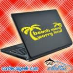 Beach More Worry Less Laptop MacBook Decal Sticker