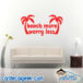 Beach More Worry Less Wall Decal Sticker