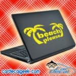 Beach Please Palm Trees Laptop MacBook Decal Sticker